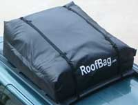 RoofBag Car Top Carrier Attached To Cross Bars With Long Straps