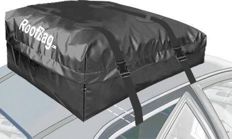 Black Roofbag Explorer Car Top Carrier For No Rack