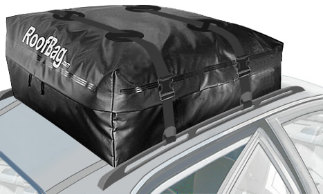 Black Roofbag Cross Country Car Top Carrier for Rack